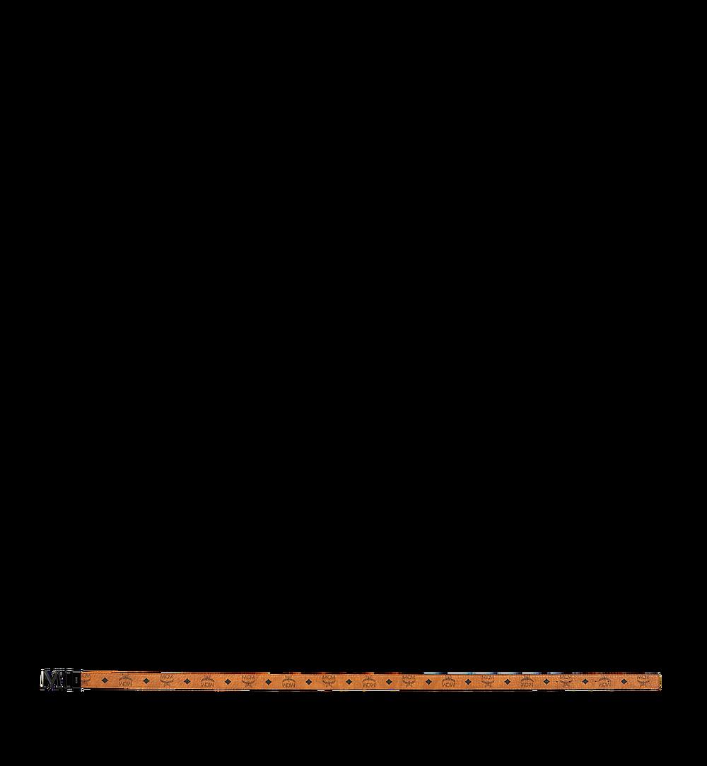 "MCM Claus 3D M Reversible Belt 1.5"" in Visetos Cognac MYB9SVI33CO001 Alternate View 2"