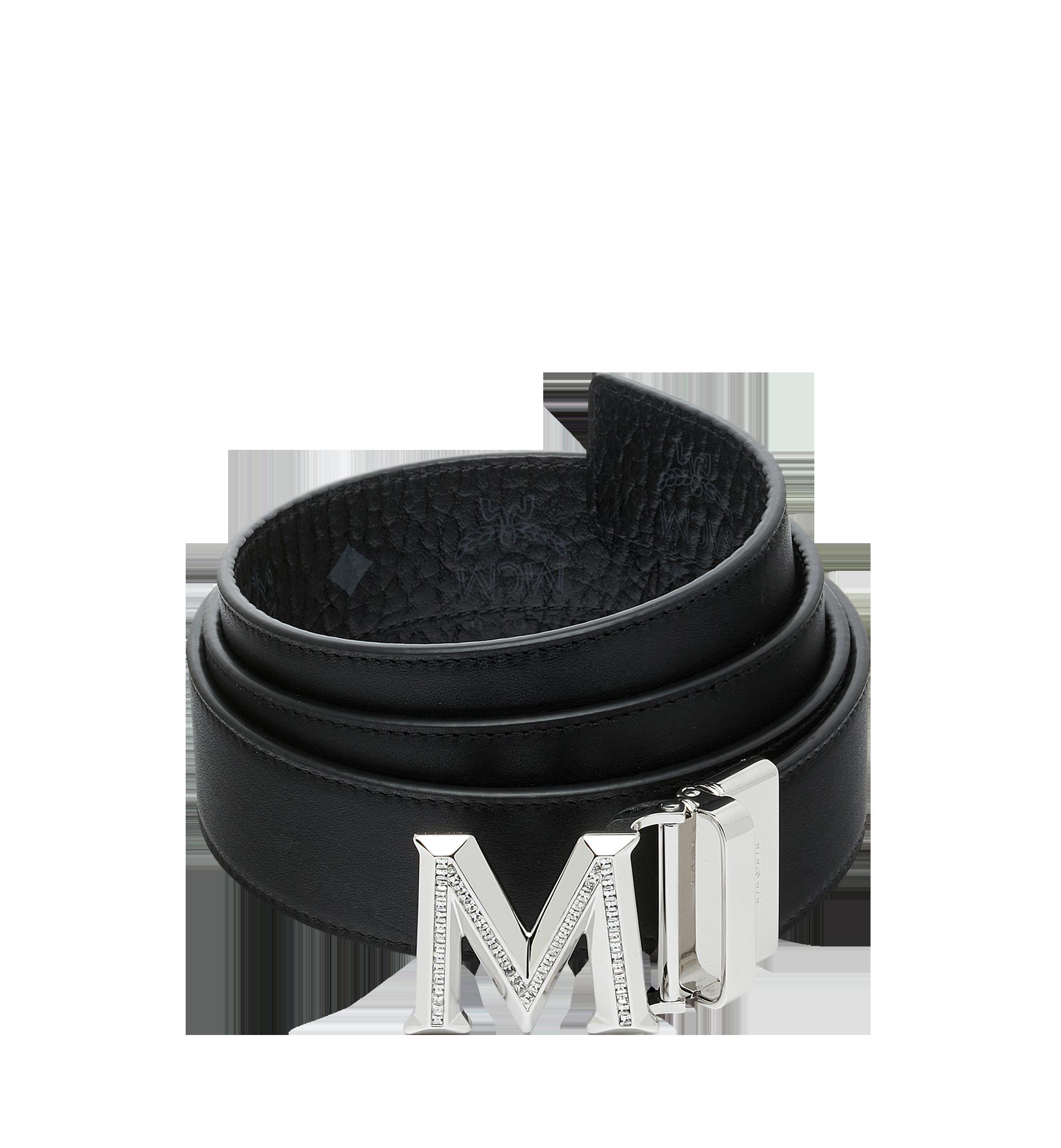 MCM Claus 3D M Wendegürtel 3,8 cm in Visetos Black MYB9SVI34BK001 Noch mehr sehen 1