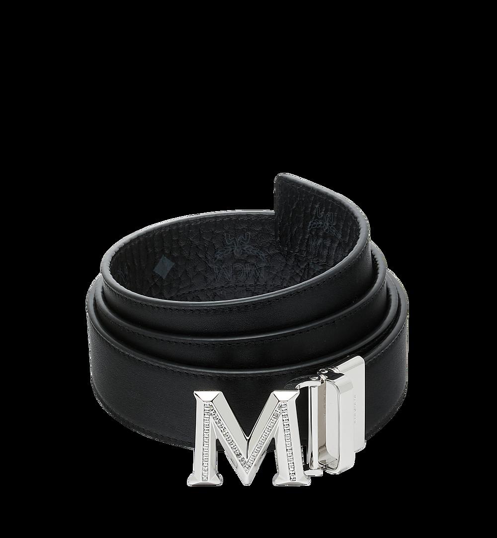 "MCM Claus 3D M Reversible Belt 1.5"" in Visetos Black MYB9SVI34BK001 Alternate View 1"