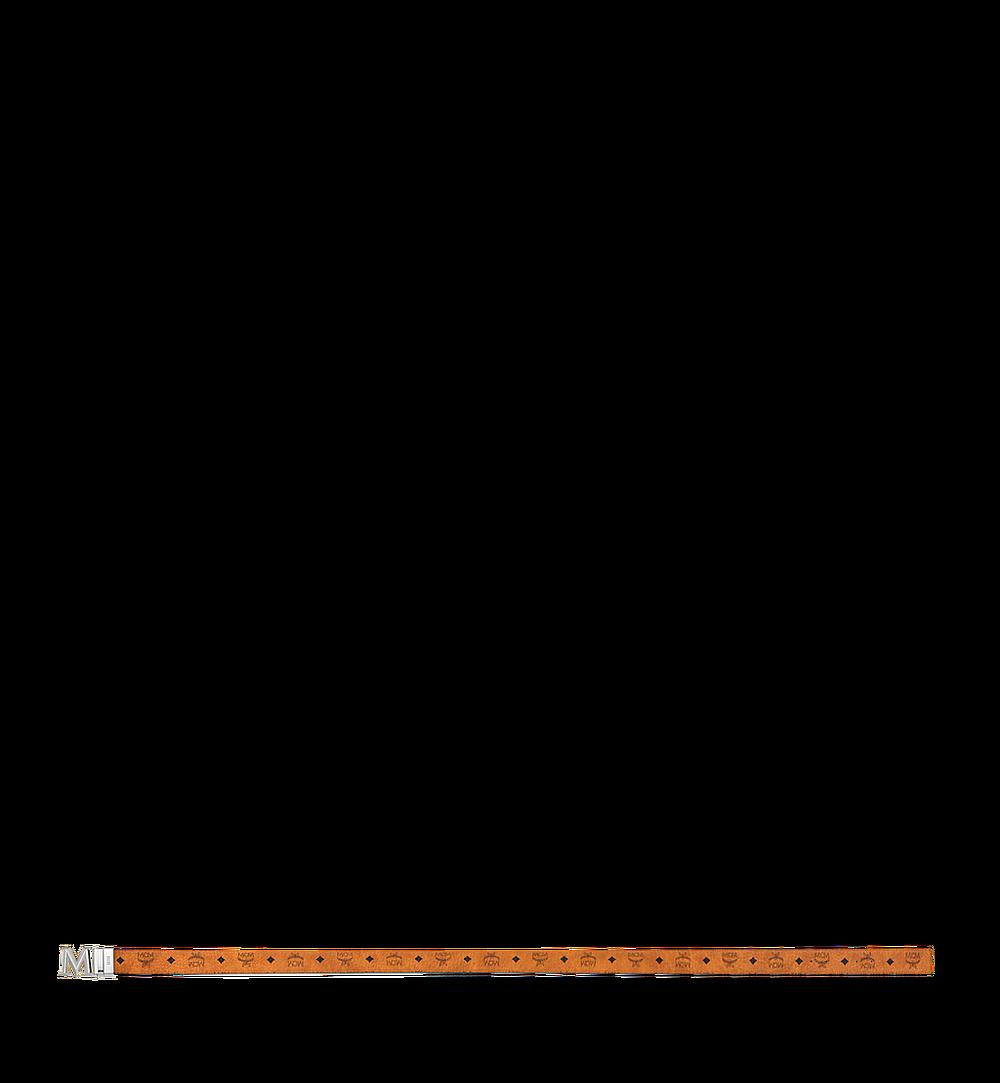 "MCM Claus 3D M Reversible Belt 1.5"" in Visetos Cognac MYB9SVI34CO001 Alternate View 2"