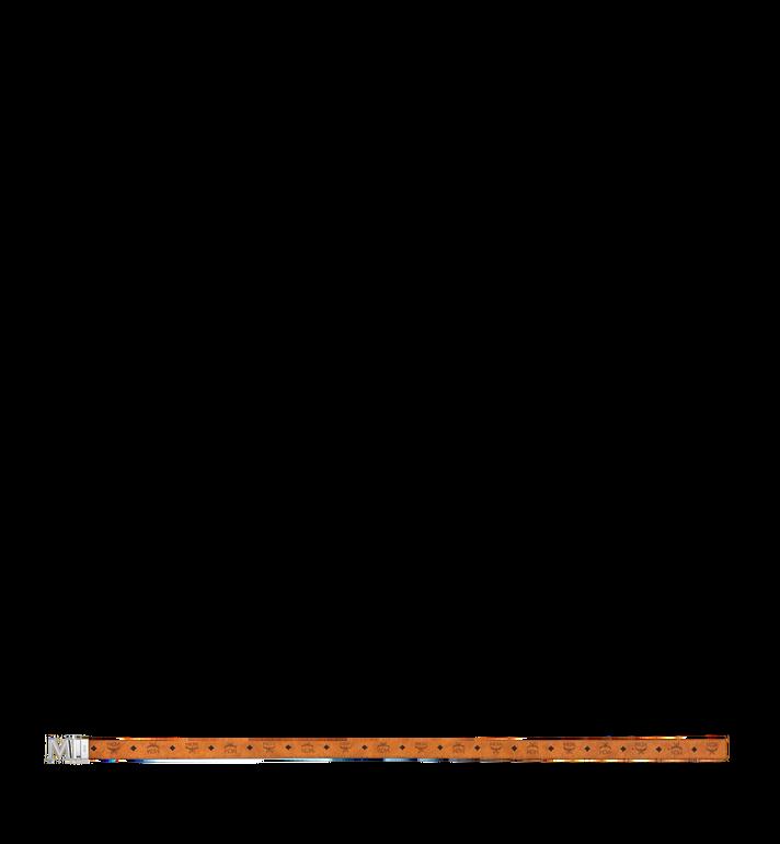 "MCM Claus 3D M Reversible Belt 1.5"" in Visetos Cognac MYB9SVI34CO001 Alternate View 3"