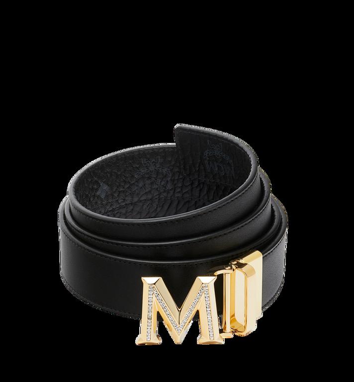 "MCM Claus 3D M Reversible Belt 1.5"" in Visetos Black MYB9SVI35BK001 Alternate View 2"