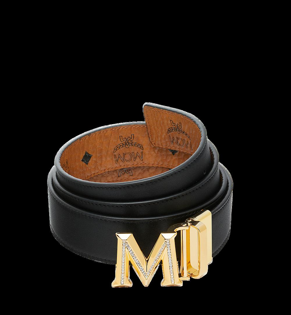 "MCM Claus 3D M Reversible Belt 1.5"" in Visetos Cognac MYB9SVI35CO001 Alternate View 1"