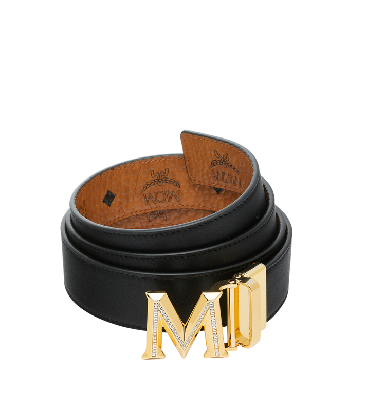 "MCM Claus 3D M Reversible Belt 1.5"" in Visetos Cognac MYB9SVI35CO001 Alternate View 2"