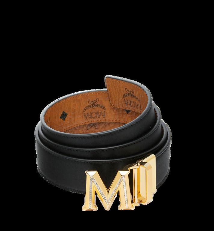 "MCM Claus 3D M Reversible Belt 1.5"" in Visetos Cognac MYB9SVI35CO001 Alternate View 2"