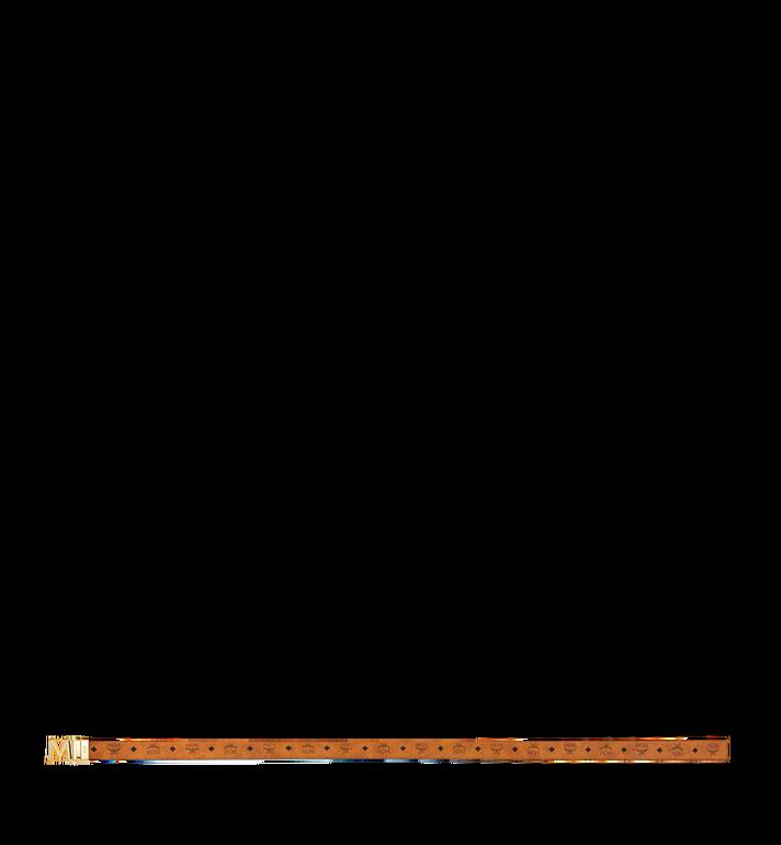 "MCM Claus 3D M Reversible Belt 1.5"" in Visetos Cognac MYB9SVI35CO001 Alternate View 3"
