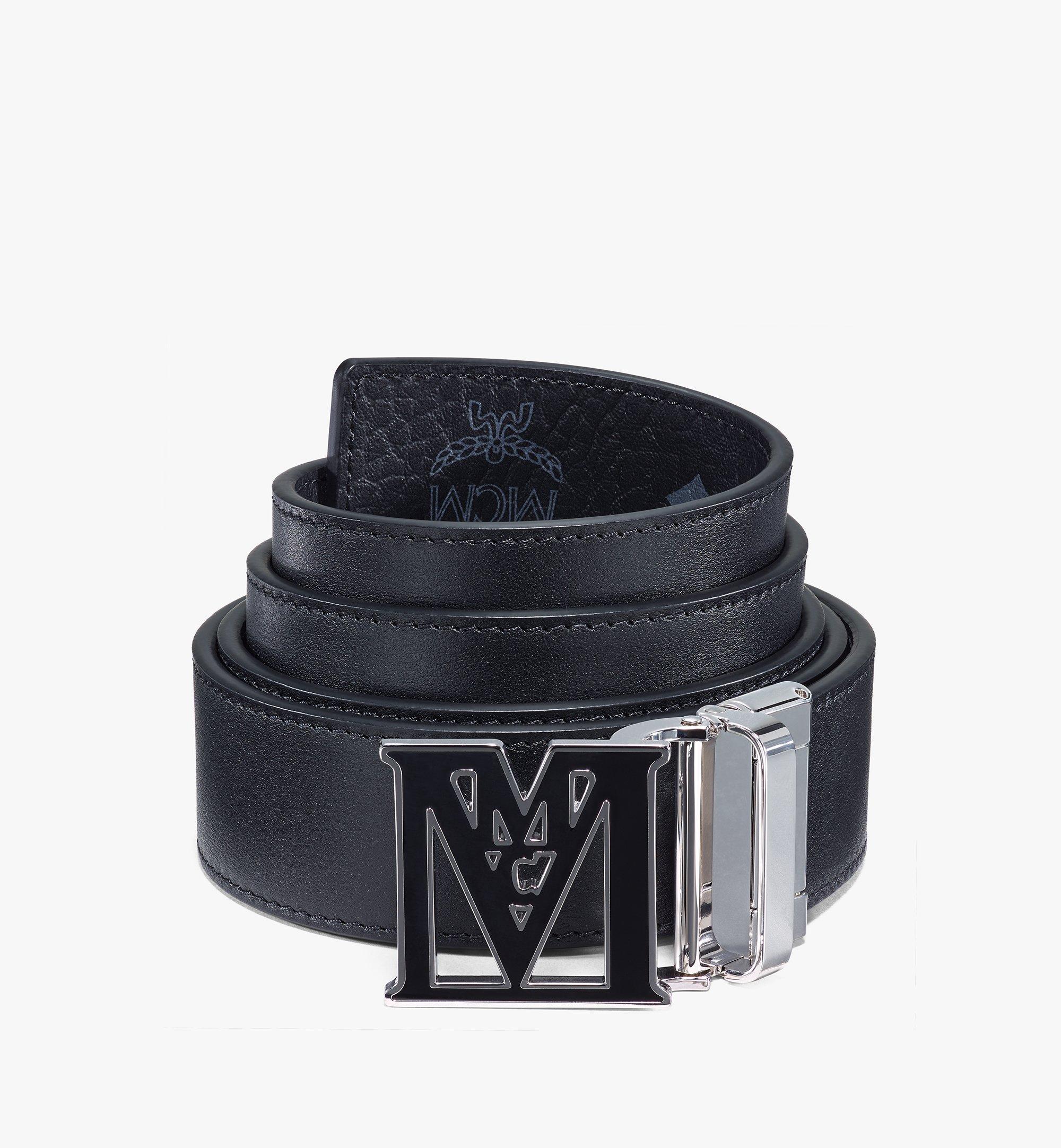 "MCM Mena Epoxy M Reversible Belt 1.5"" in Visetos Black MYBAALM01BK001 Alternate View 1"