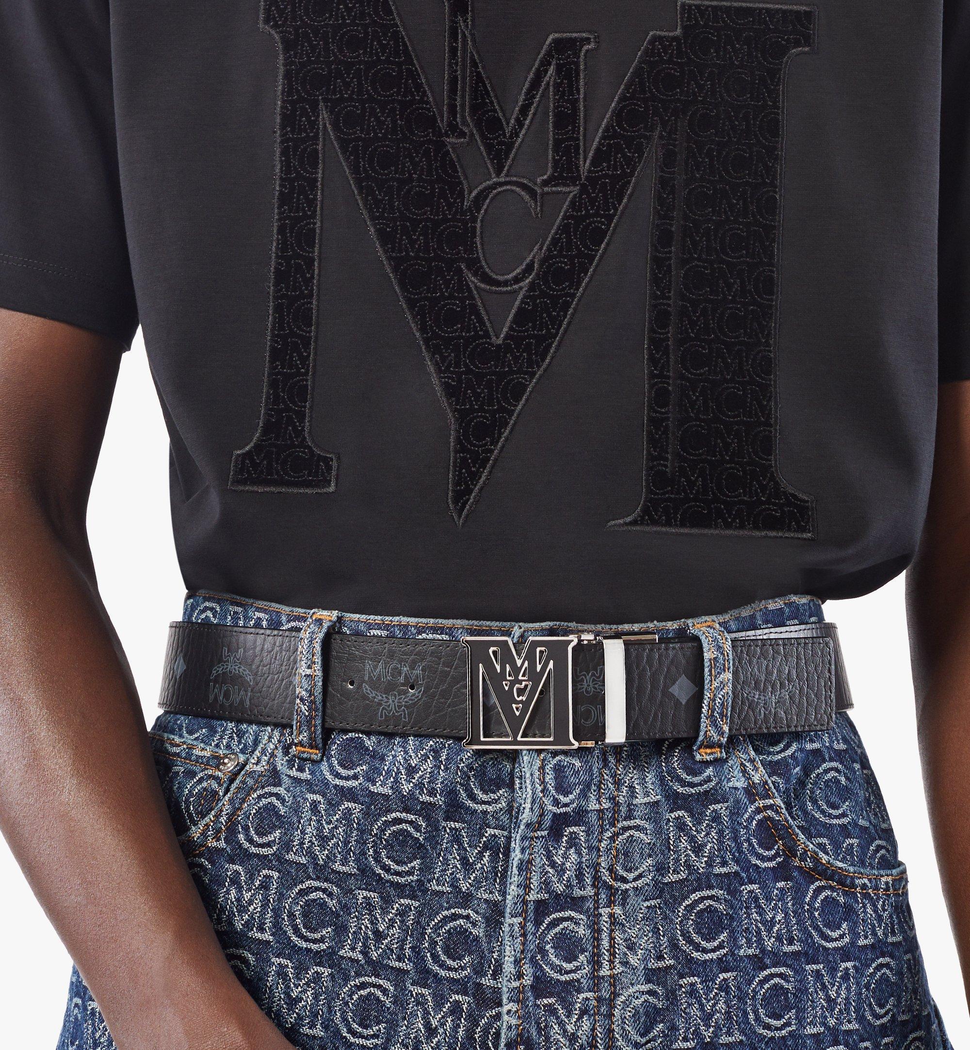 "MCM Mena Epoxy M Reversible Belt 1.5"" in Visetos Black MYBAALM01BK001 Alternate View 2"