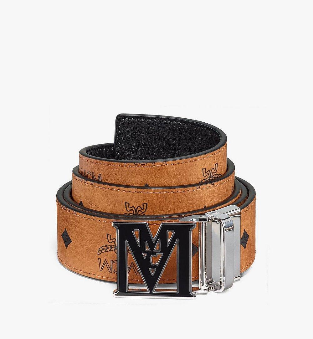 "MCM Mena Epoxy M Reversible Belt 1.5"" in Visetos Cognac MYBAALM01CO001 Alternate View 1"
