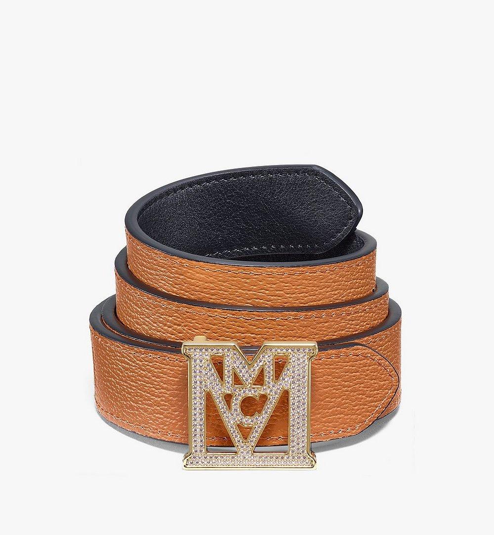"MCM Mena M 3D Reversible Belt 1"" in Visetos Black MYBAALM03BK100 Alternate View 1"