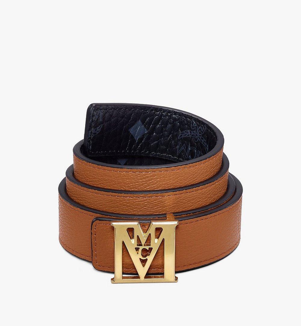 "MCM Mena M Reversible Belt 1"" in Visetos Black MYBAALM05BK100 Alternate View 1"