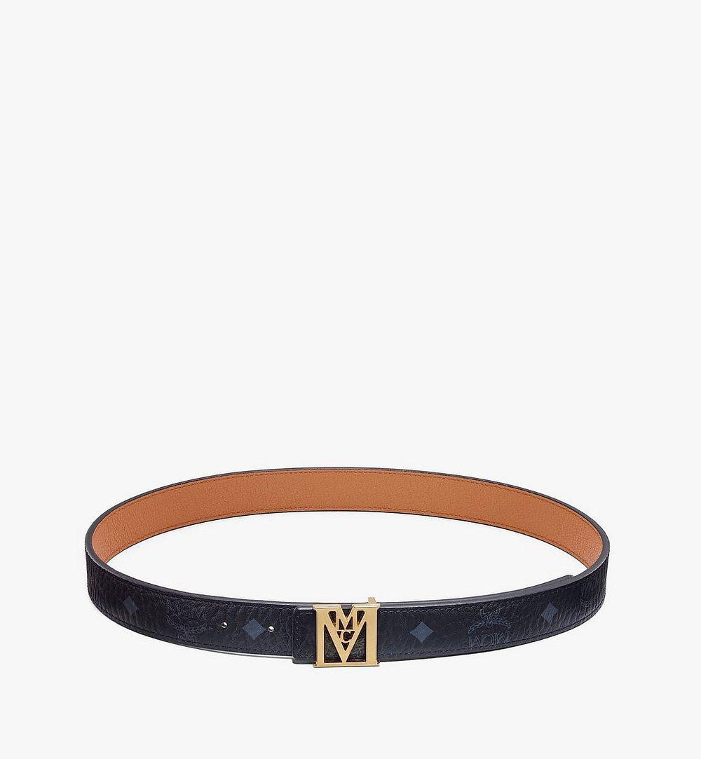 "MCM Mena M Reversible Belt 1"" in Visetos Black MYBAALM05BK100 Alternate View 2"