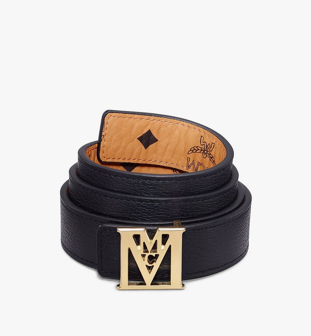 "MCM Mena M Reversible Belt 1"" in Visetos Cognac MYBAALM05CO100 Alternate View 1"
