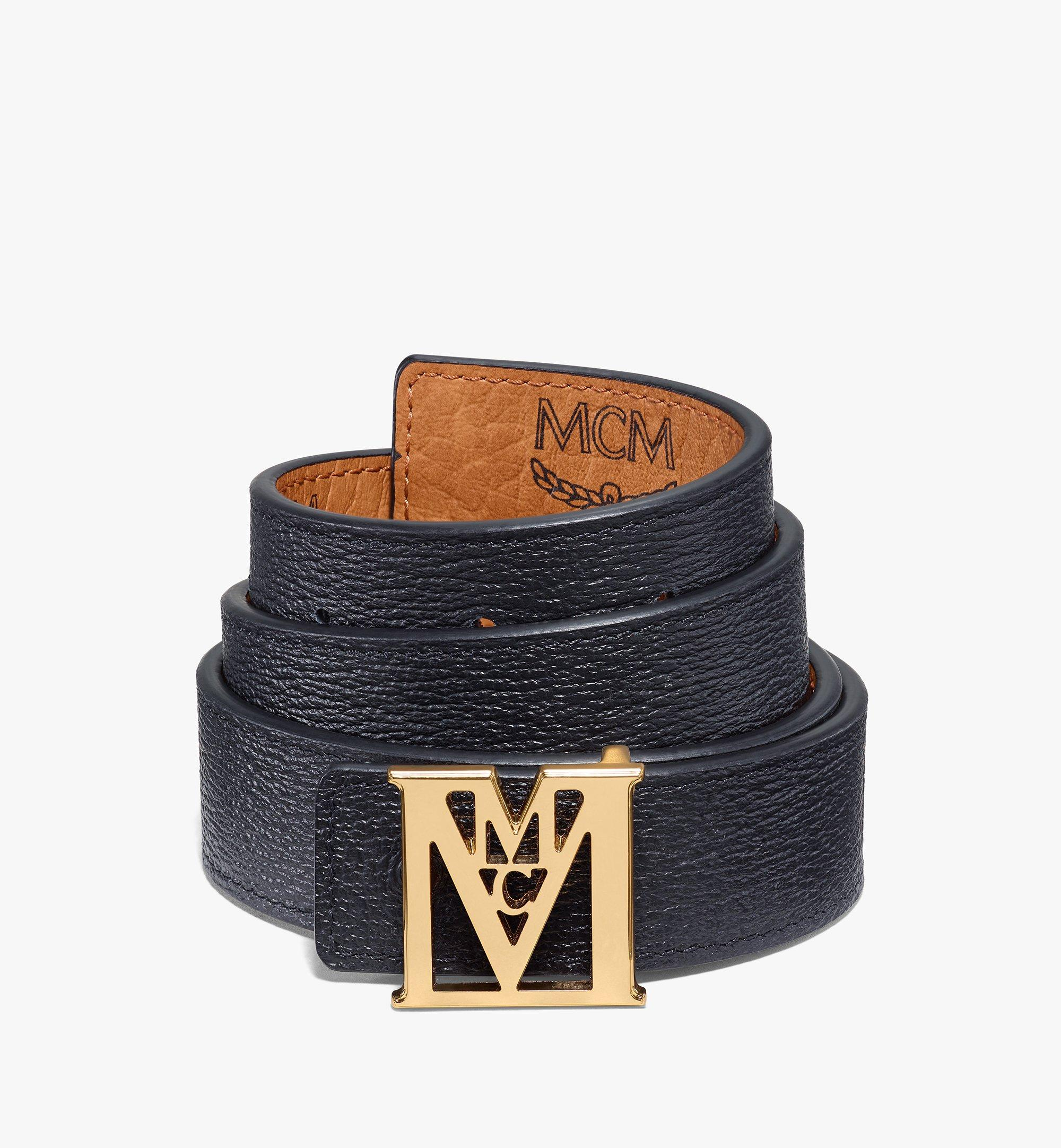 MCM Visetos 系列 Mena M 1 吋可翻轉使用皮帶 Cognac MYBAALM05CO100 更多視圖 3