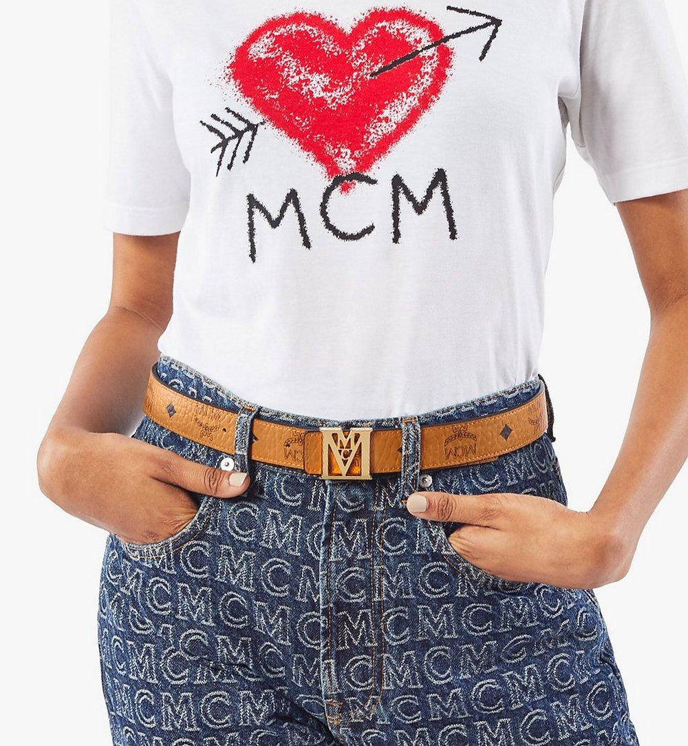 "MCM Mena M Reversible Belt 1"" in Visetos Cognac MYBAALM05CO100 Alternate View 2"