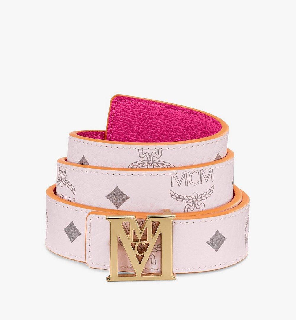 "MCM Mena M Reversible Belt 1"" in Visetos Pink MYBAALM08QH100 Alternate View 1"