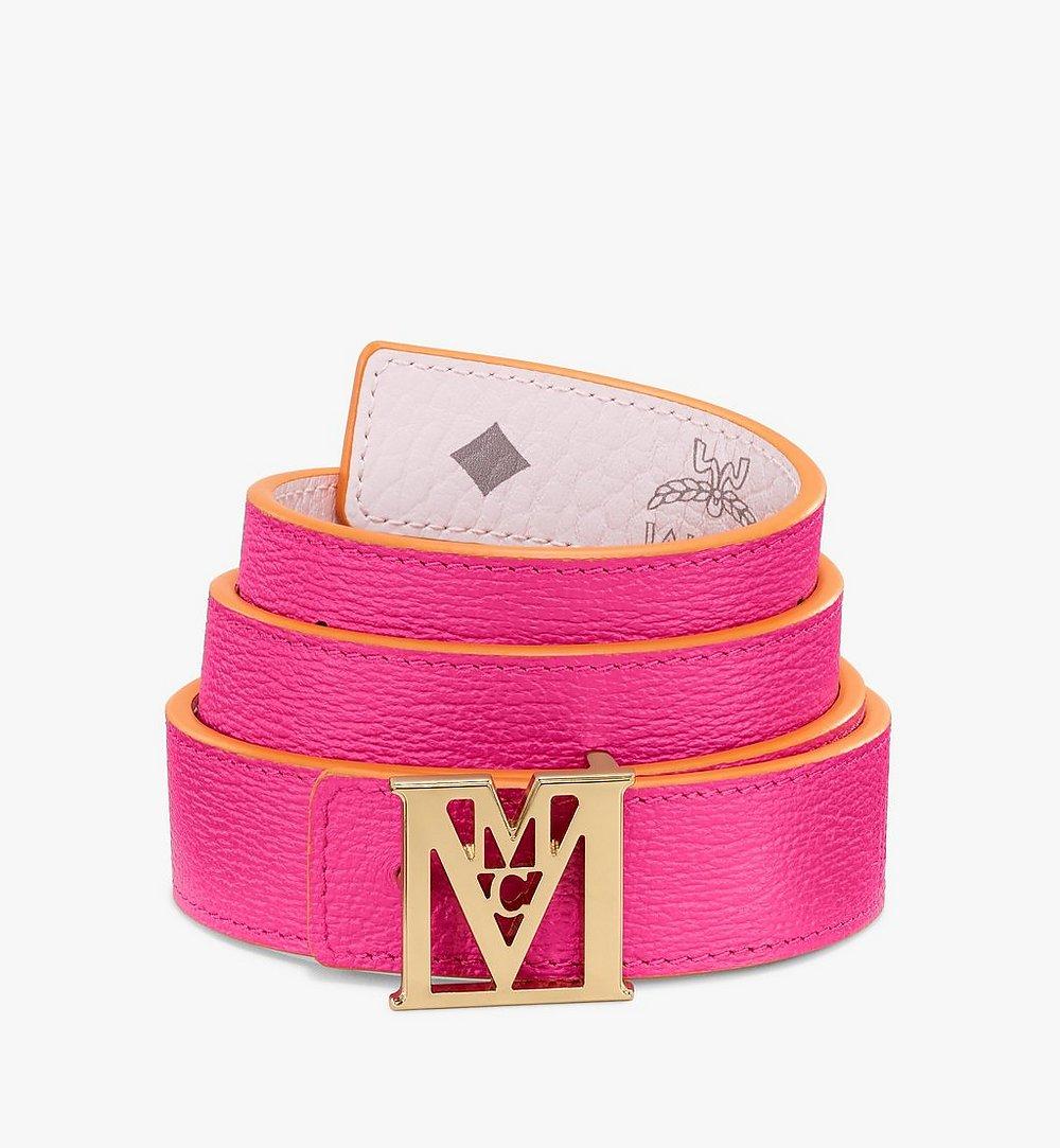 MCM Visetos 系列 Mena M 1 吋可翻轉使用皮帶 Pink MYBAALM08QH100 更多視圖 1