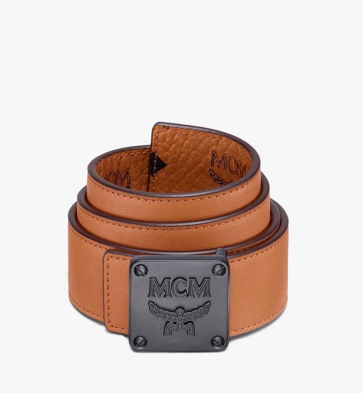 "MCM MCM Collection Reversible Belt 1.5"" in Visetos Cognac MYBASMM02CO001 Alternate View 2"