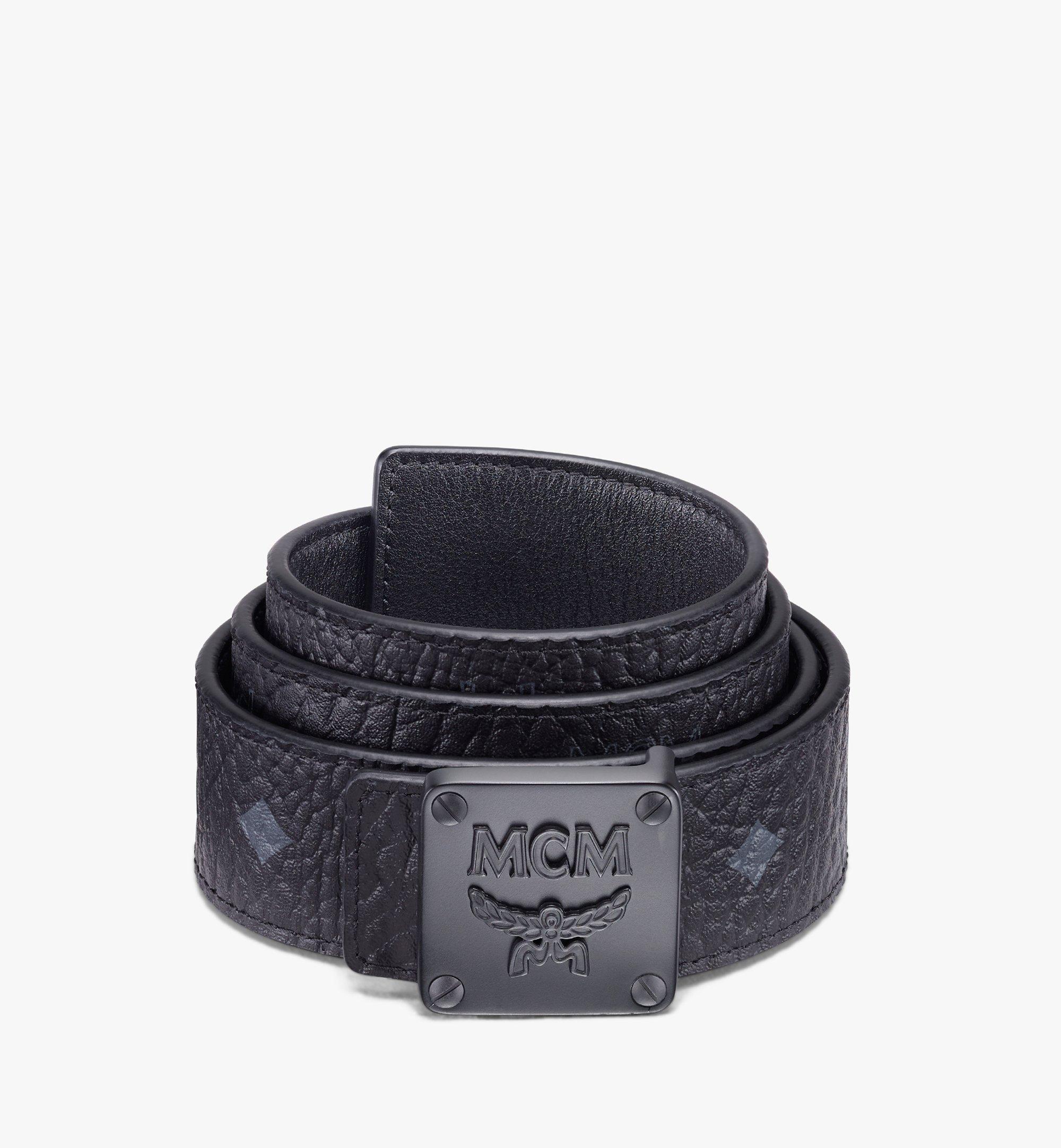 "MCM MCM Collection Reversible Belt 1.5"" in Visetos Black MYBASMM03BK001 Alternate View 1"