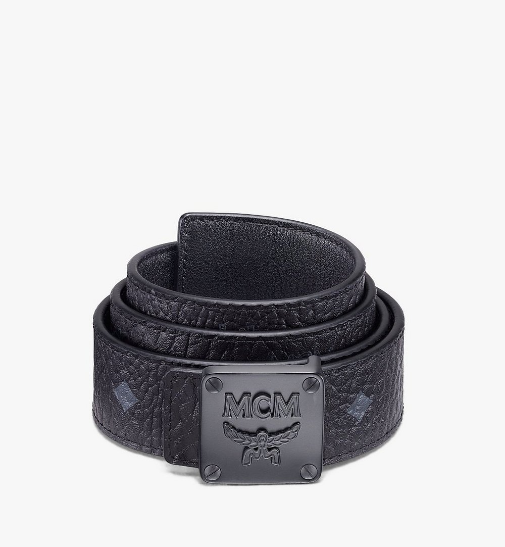 "MCM MCM Collection Reversible Belt 1.5"" in Visetos Black MYBASMM03BK001 Alternate View 1"