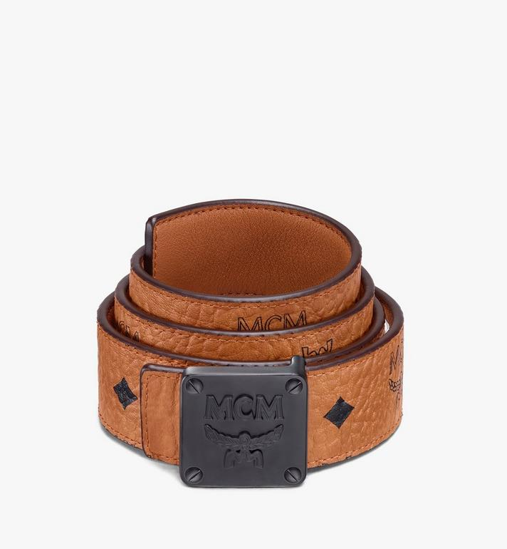 MCM Ceinture réversible MCM Collection 3,81 cm en Visetos Cognac MYBASMM03CO001 Alternate View 1