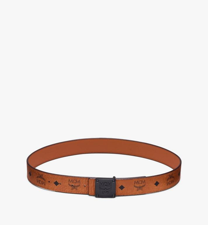 MCM Ceinture réversible MCM Collection 3,81 cm en Visetos Cognac MYBASMM03CO001 Alternate View 3