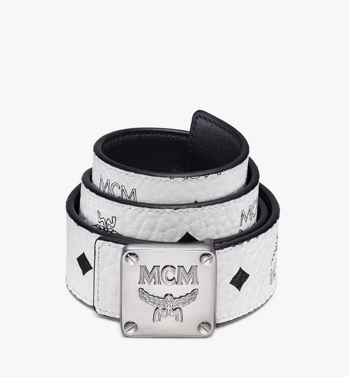 MCM Ceinture réversible MCM Collection 3,81 cm en Visetos Alternate View