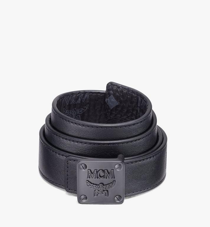 "MCM MCM Collection Reversible Belt 1"" in Visetos Black MYBASMM12BK001 Alternate View 2"