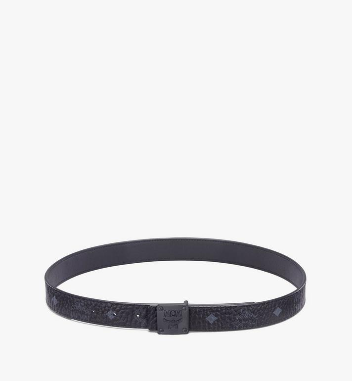 "MCM MCM Collection Reversible Belt 1"" in Visetos Black MYBASMM12BK001 Alternate View 3"