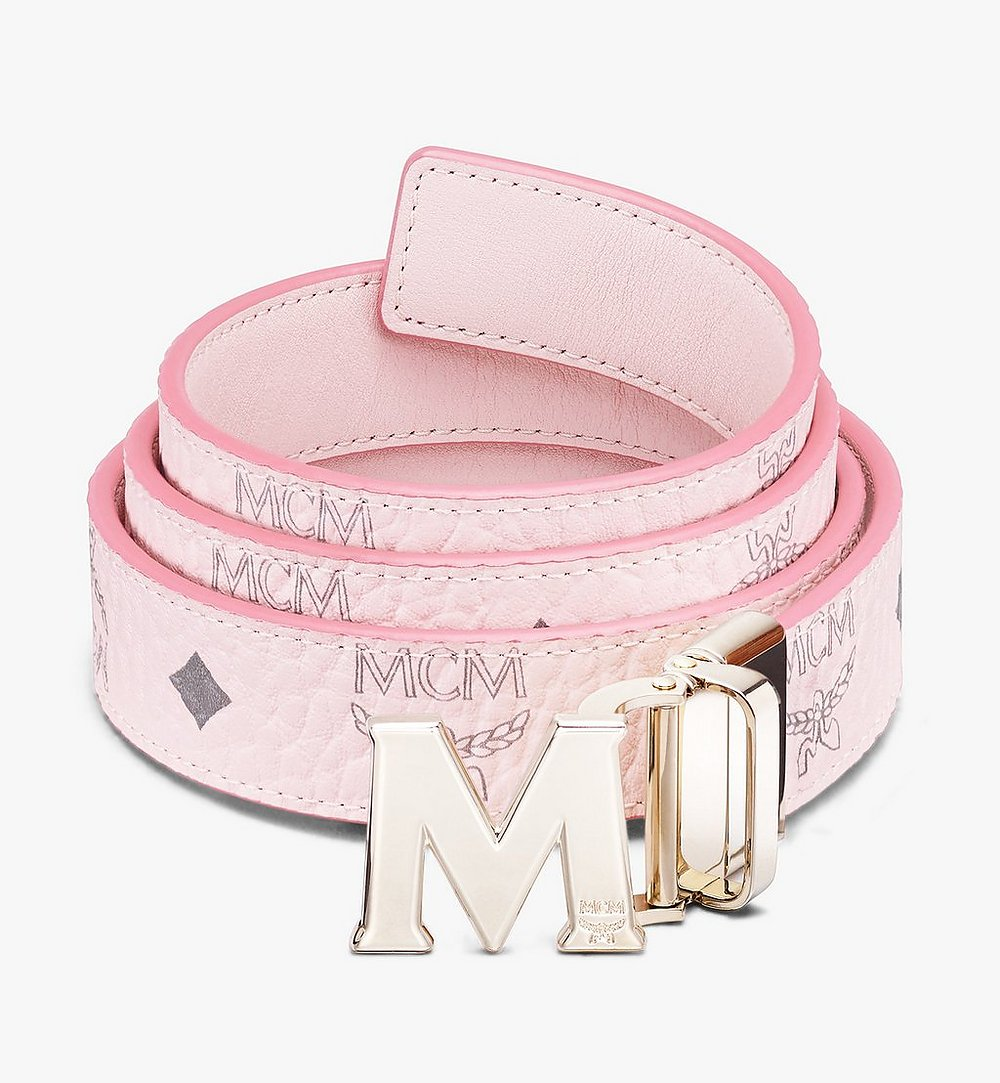 "MCM Claus M Reversible Belt 1"" in Visetos Pink MYBASVI11QH001 Alternate View 1"