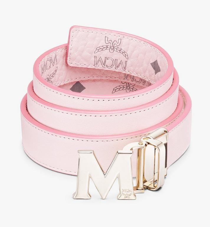 """MCM Claus M Reversible Belt 1"""" in Visetos Pink MYBASVI11QH001 Alternate View 2"""