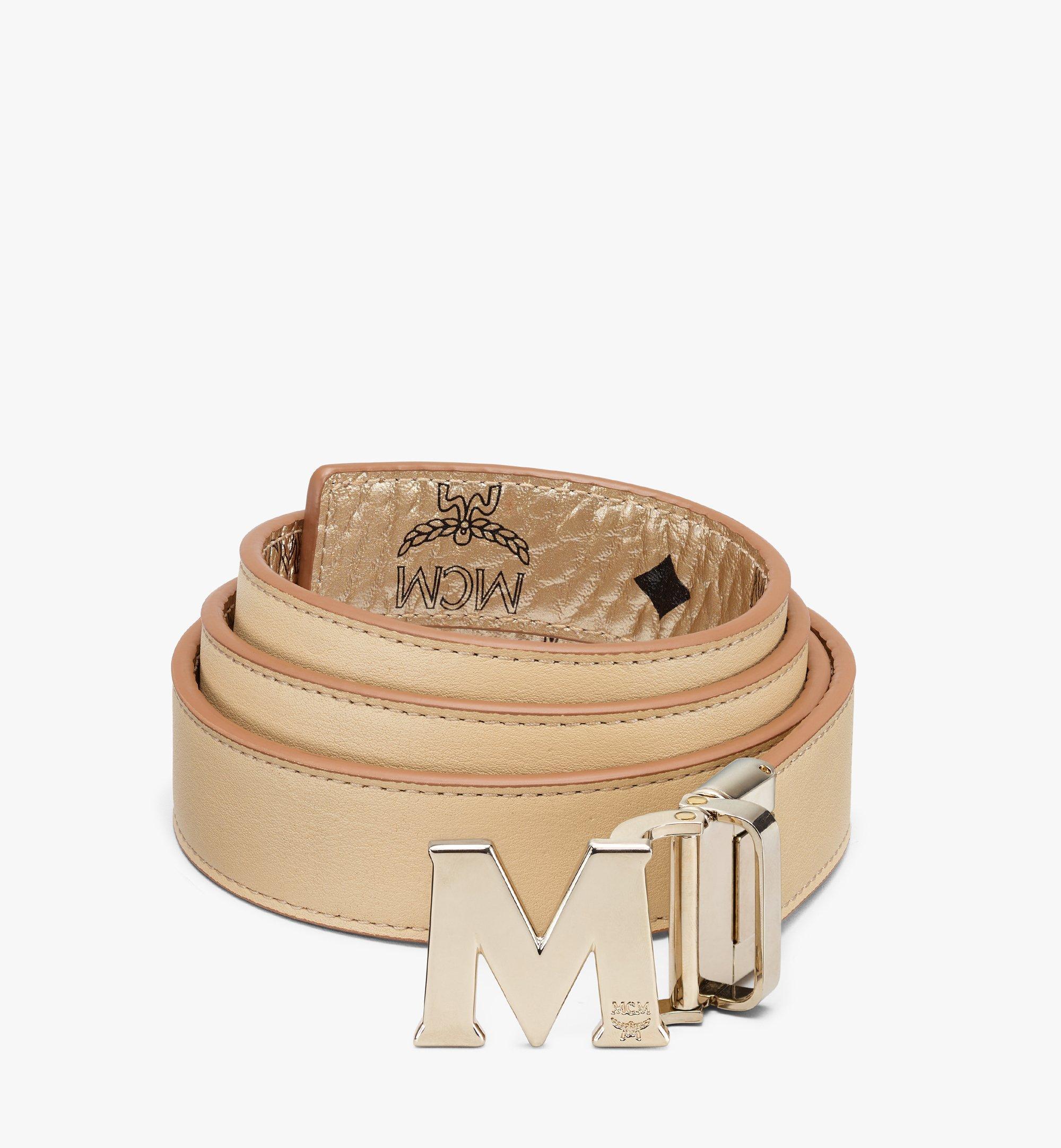 MCM Ceinture réversible Claus M 2,5cm en Visetos Gold MYBASVI11T1001 Plus de photos 1