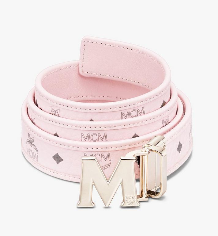"MCM Claus M Reversible Belt 1"" in Visetos Pink MYBASVI12QH001 Alternate View 1"