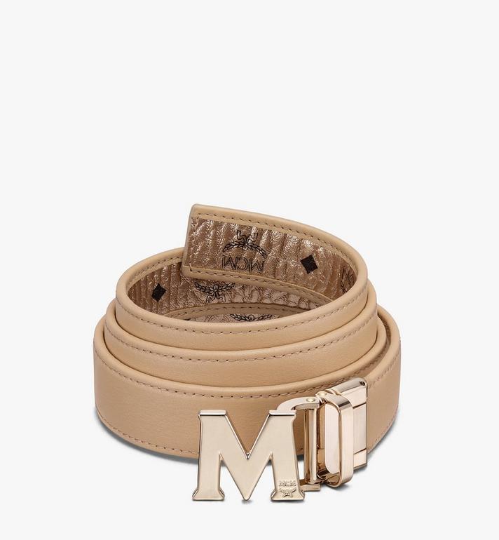 "MCM Claus M Reversible Belt 1"" in Visetos Gold MYBASVI12T1001 Alternate View 2"