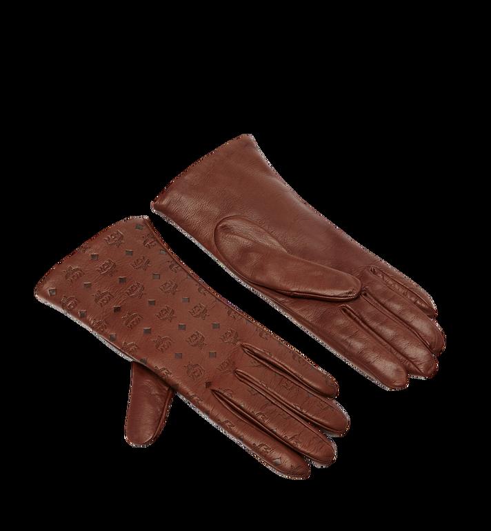 MCM Women s Monogram Leather Gloves AlternateView b476db745