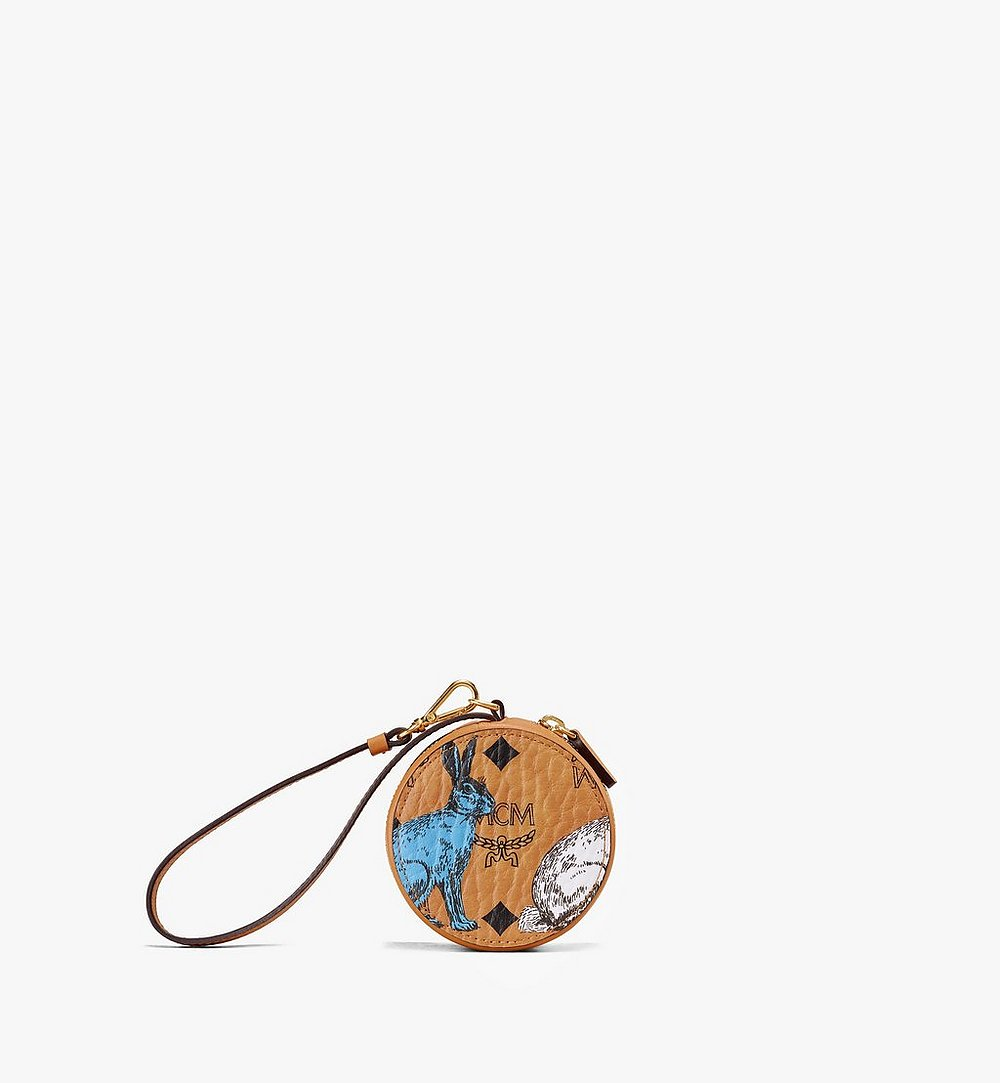 MCM Hide-and-Seek Rabbit Coin Wallet Cognac MYI9AVI19CO001 Alternate View 1