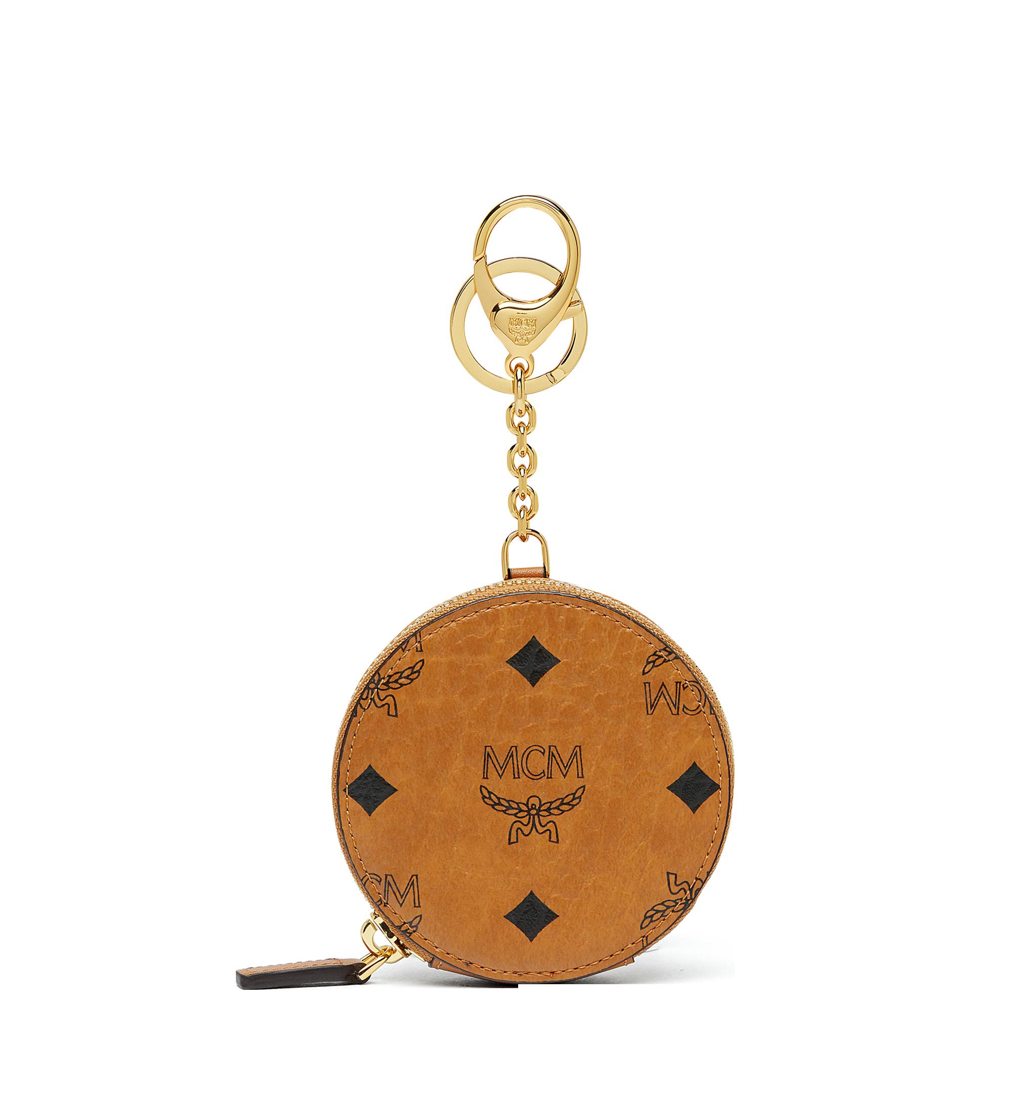 MCM Coin Pouch in Visetos Original Cognac MYIAAVI01CO001 Alternate View 1