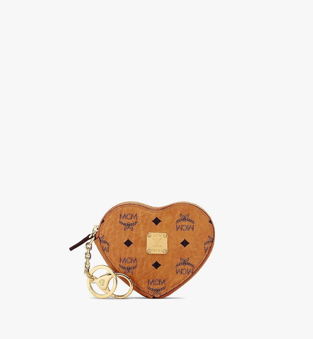 MCM Herzförmiger Münzbeutel in Visetos Original Cognac MYIAAVI02CO001 Noch mehr sehen 1