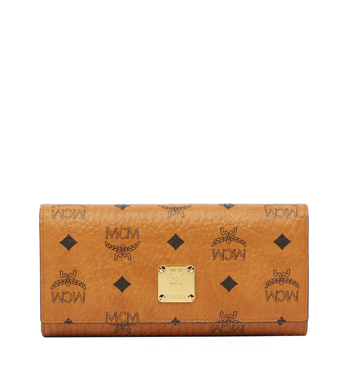 MCM Heritage Three Fold Wallet in Visetos MYL6AVI64CO001 AlternateView