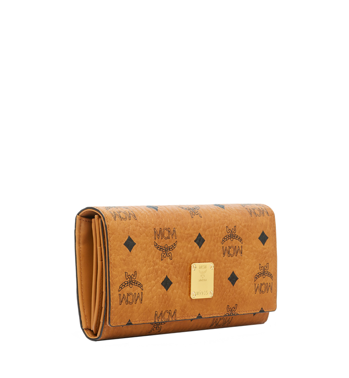 MCM Heritage Three Fold Wallet in Visetos Alternate View 2