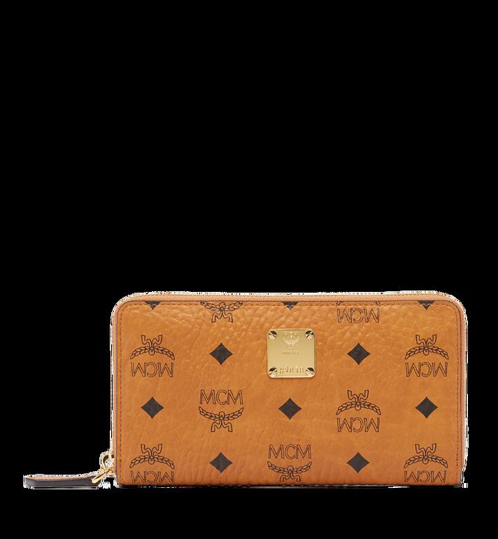 MCM Heritage Zip Around Wallet in Visetos MYL6AVI67CO001 AlternateView