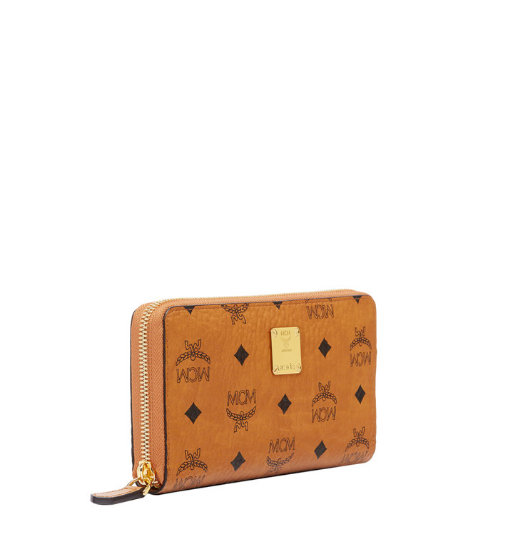 MCM Heritage Zip Around Wallet in Visetos MYL6AVI67CO001 AlternateView2