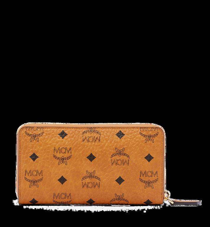MCM Heritage Zip Around Wallet in Visetos MYL6AVI67CO001 AlternateView3
