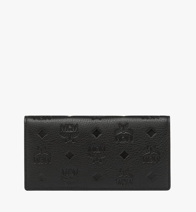 Klara gefaltete Brieftasche aus Leder mit Monogramm