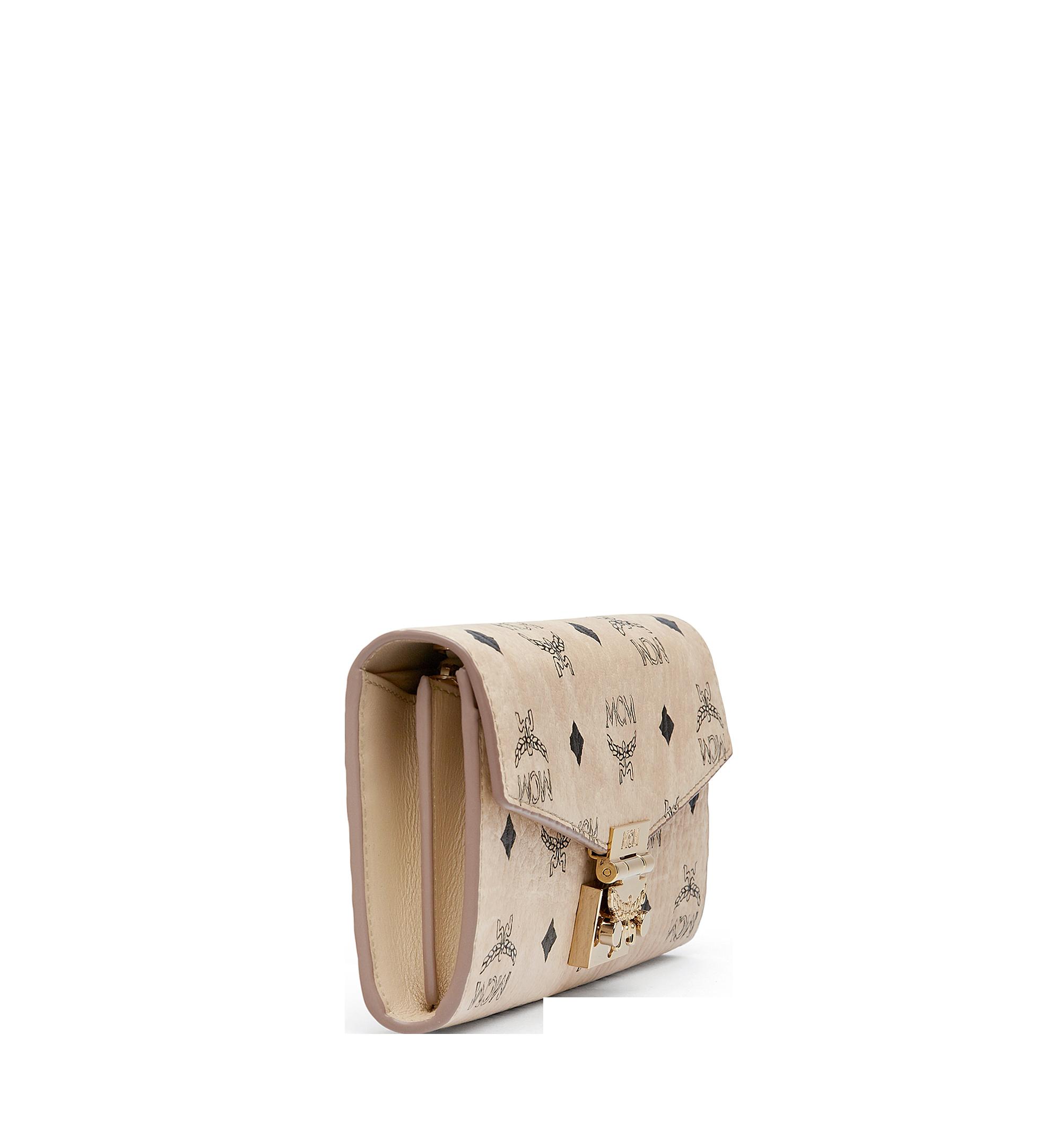 Large Patricia Crossbody Wallet in Visetos Beige | MCM® DE