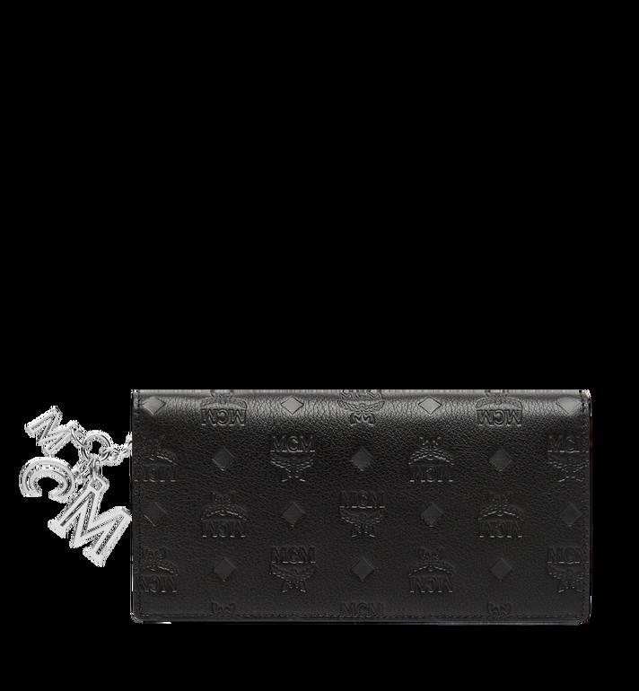 MCM Two Fold Wallet in Monogram Leather Charm MYL8AKM12BK001 AlternateView