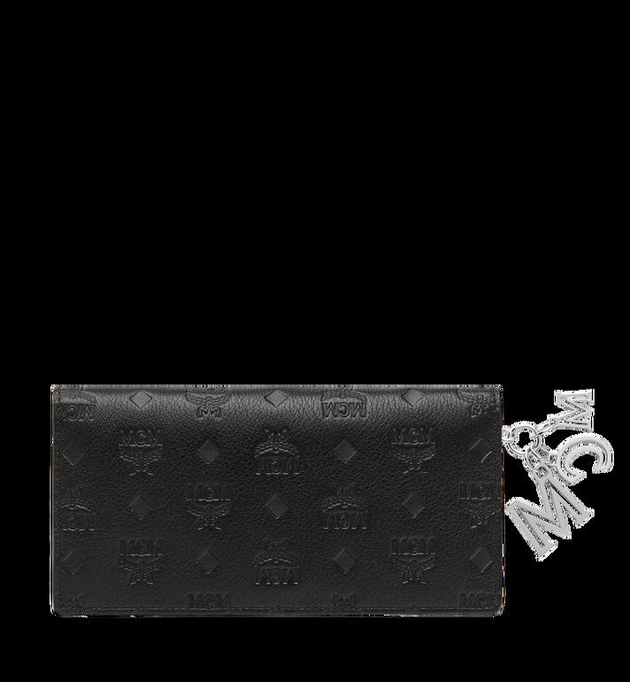 MCM Two Fold Wallet in Monogram Leather Charm MYL8AKM12BK001 AlternateView3