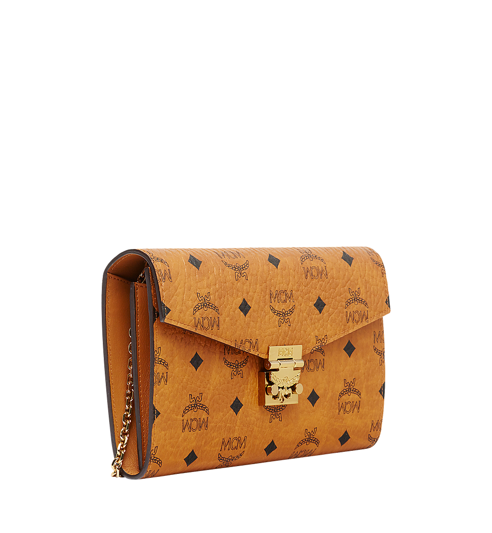 MCM Patricia Continental Crossbody Wallet in Visetos Cognac MYL8APA17CO001 Alternate View 1