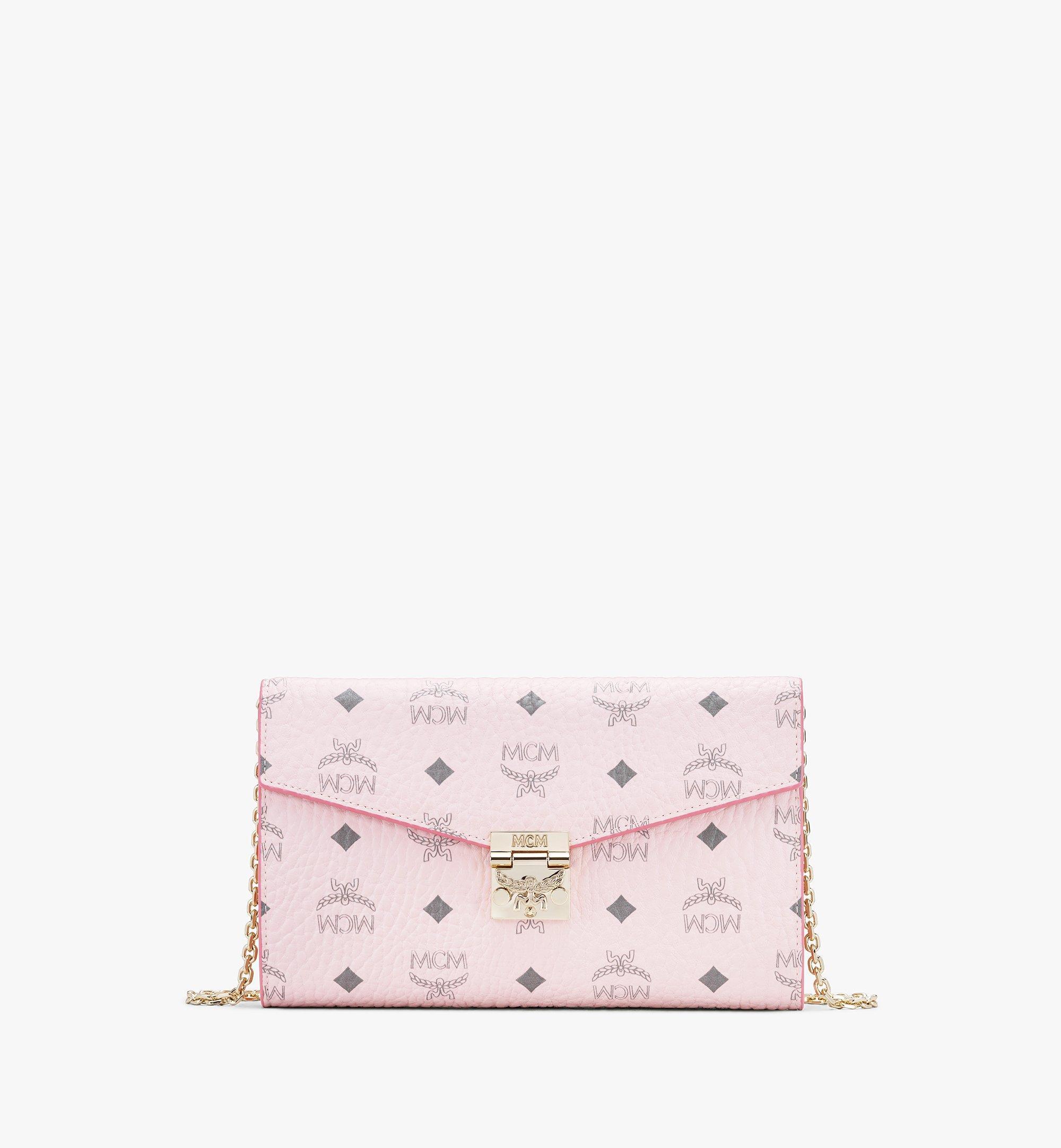 MCM Patricia Continental Crossbody Wallet in Visetos Pink MYL8APA17QH001 Alternate View 1