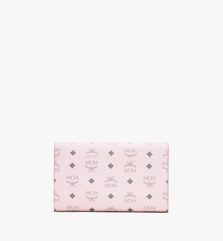 MCM Patricia Continental Crossbody Wallet in Visetos Pink MYL8APA17QH001 Alternate View 2
